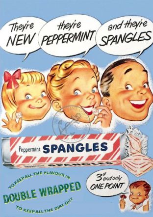 Peppermint Spangles Retro Advert